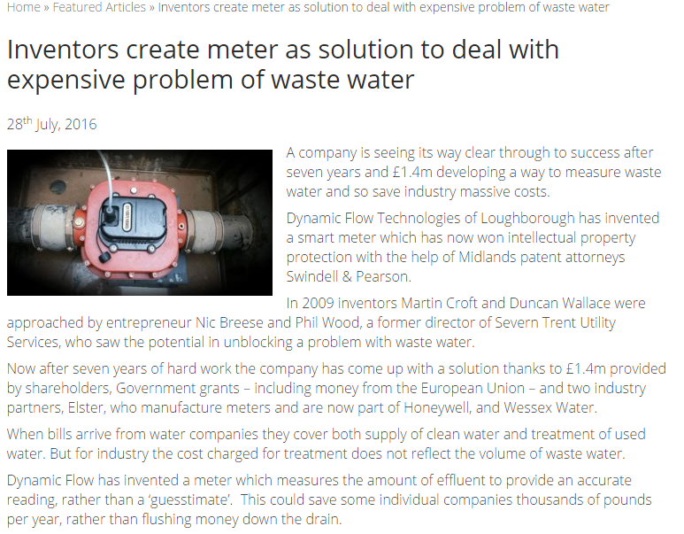Inventors create meter as solution to deal with expensive problem of waste water