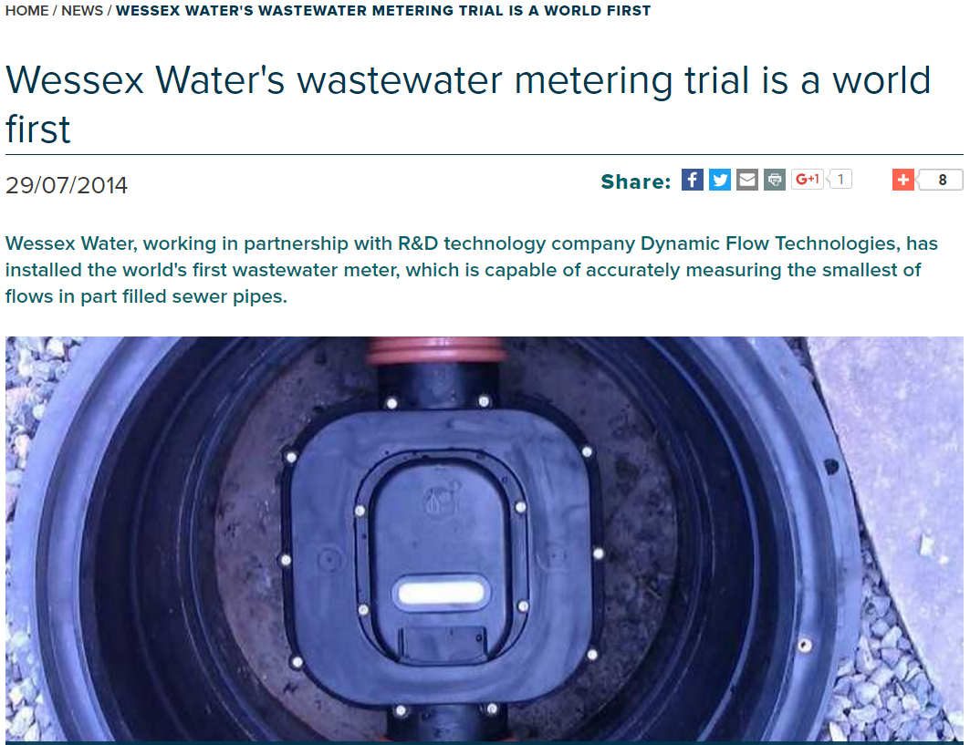 Wessex Water's wastewater metering trial is a world first