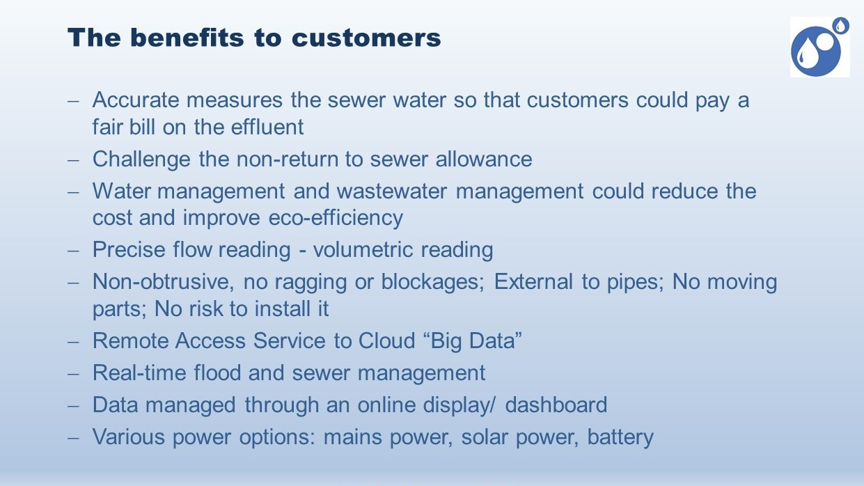 Wastewater meter benefits customers