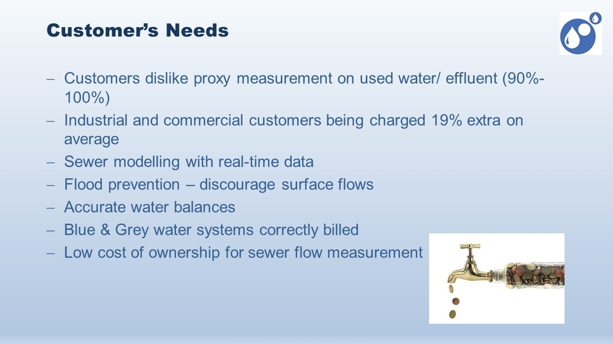wastewater meter customer needs